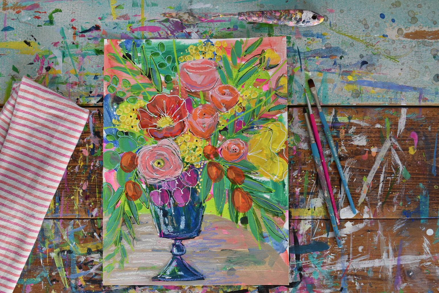boho_flowers_painting_eclectic_tropical_daisyfaithart_4.jpg