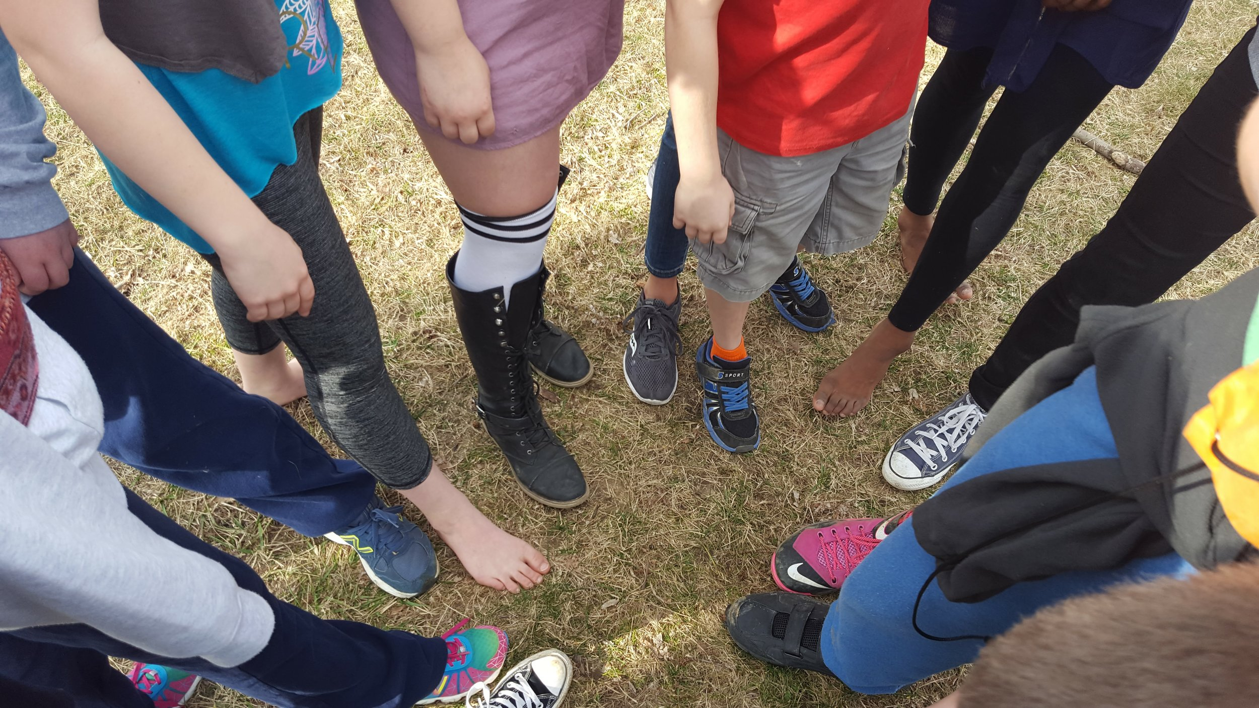 Vote with your feet at A&I: preparing for a game of Sharks and Minnows.