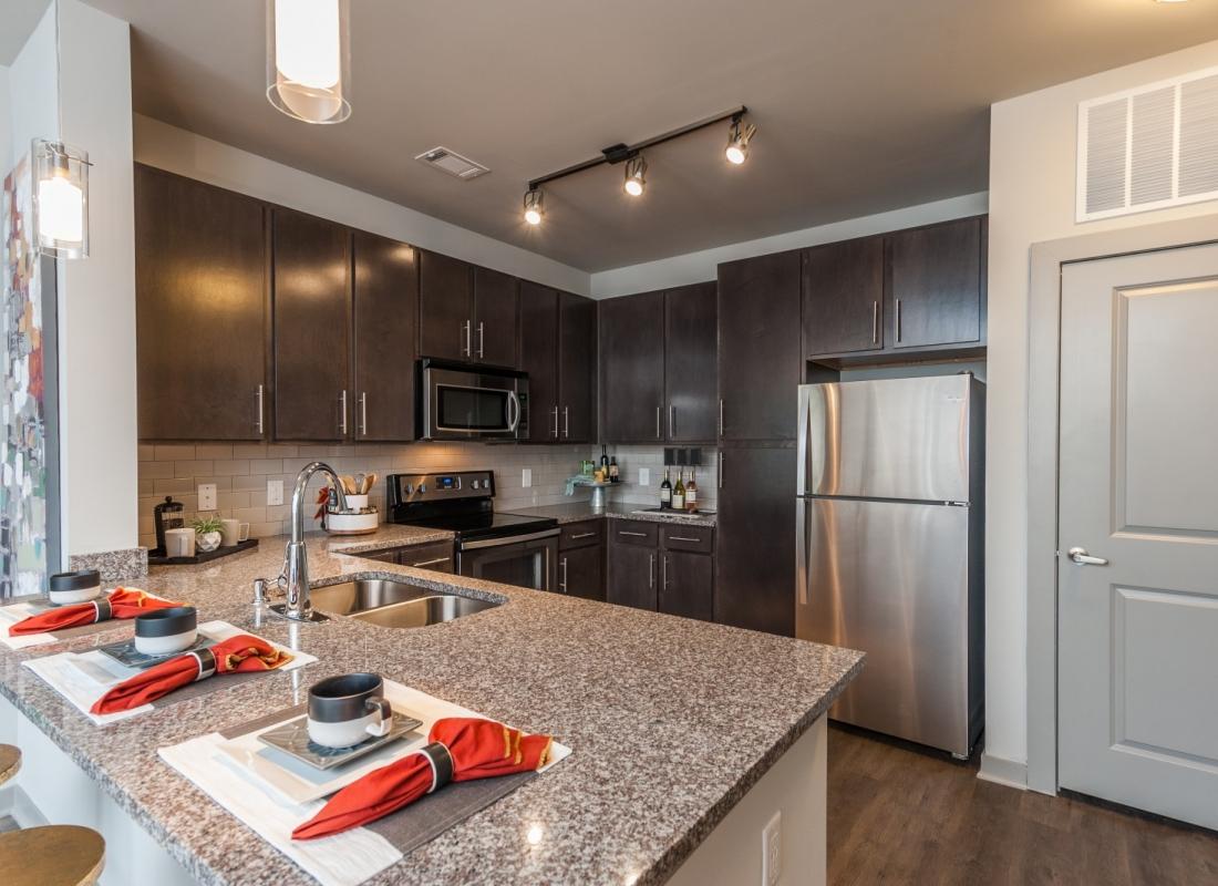 New Construction Kitchen in Nashville's suburb, Bellevue