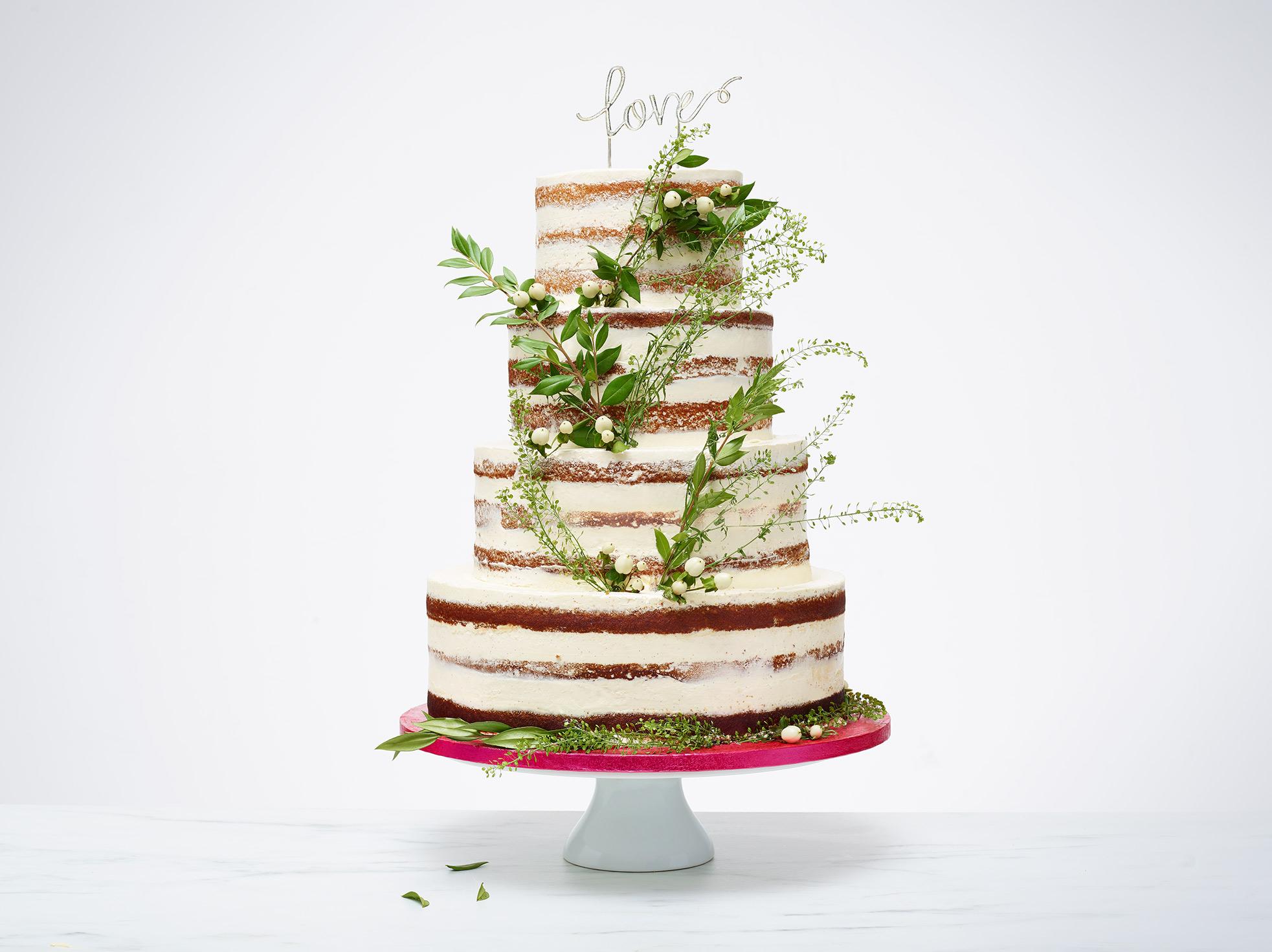 Love And Cakes Paris Wedding Cake Boho Vegetal Naked