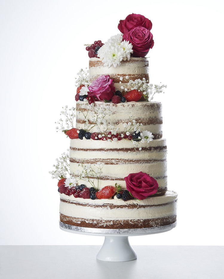 Wedding Cake Boho Chic Naked