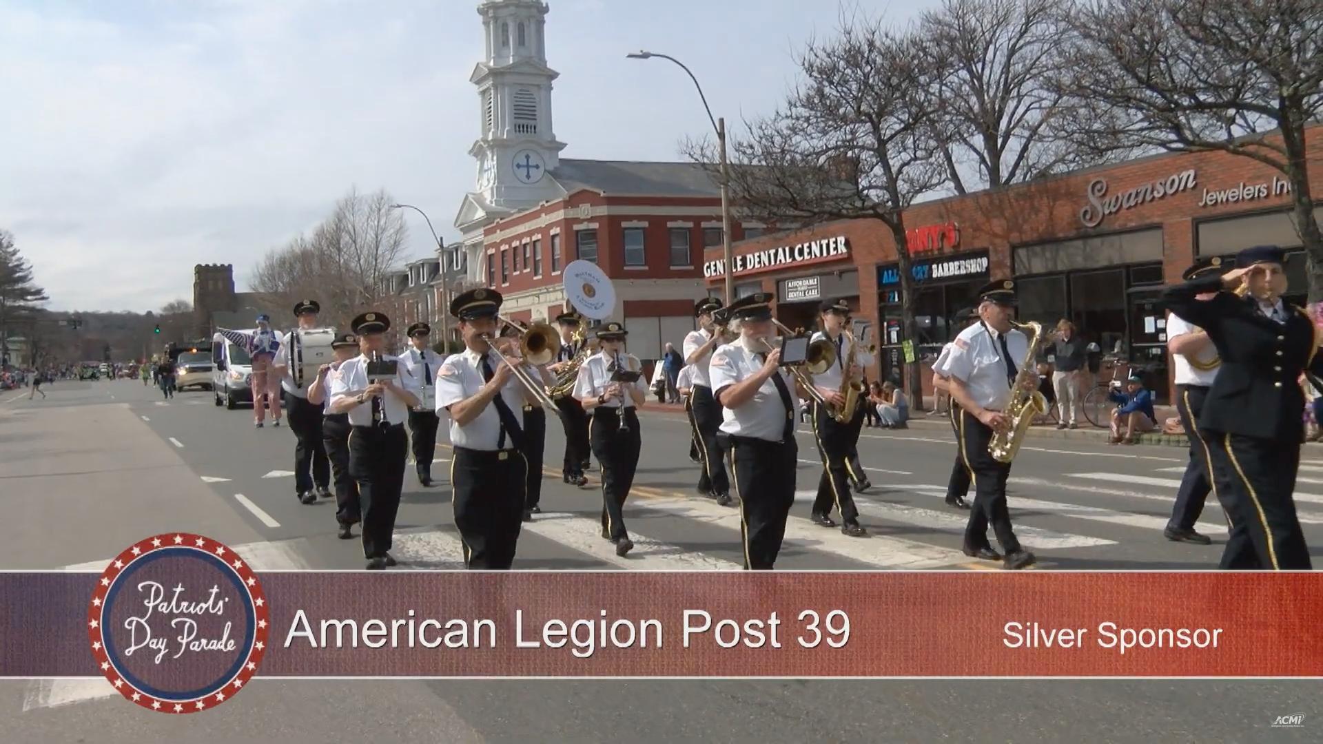Waltham Legion Band, American Legion Post 39; Arlington Patriots' Day Parade