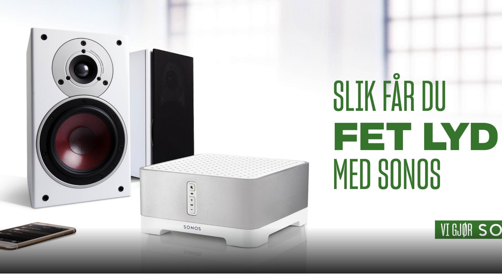 Teknologiartikkel - Sonos er verdens mest solgte høyttalersystem. Men faktum er alltid at to høyttalere i stereo låter bedre enn alt-i-ett-bokser. Heldigvis finnes en løsning som gir deg begge deler.