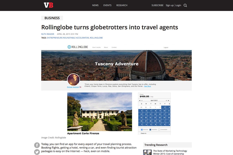 Press coverage of Rollinglobe's online host agency platform.