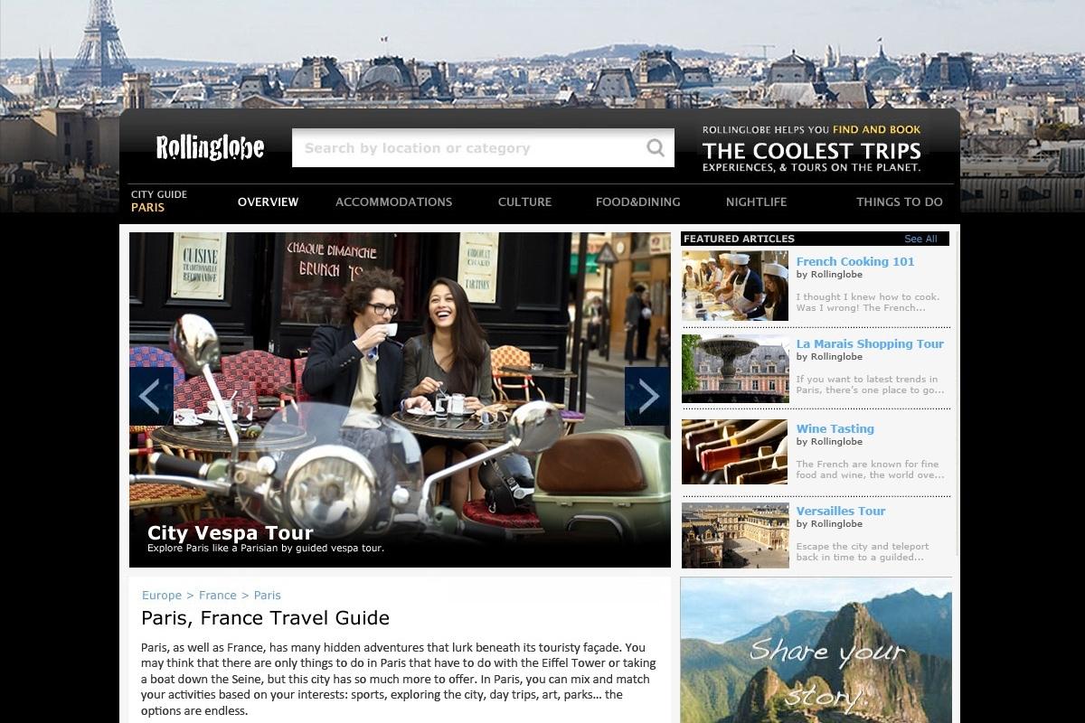 Rollinglobe's online city guide to Paris, France.