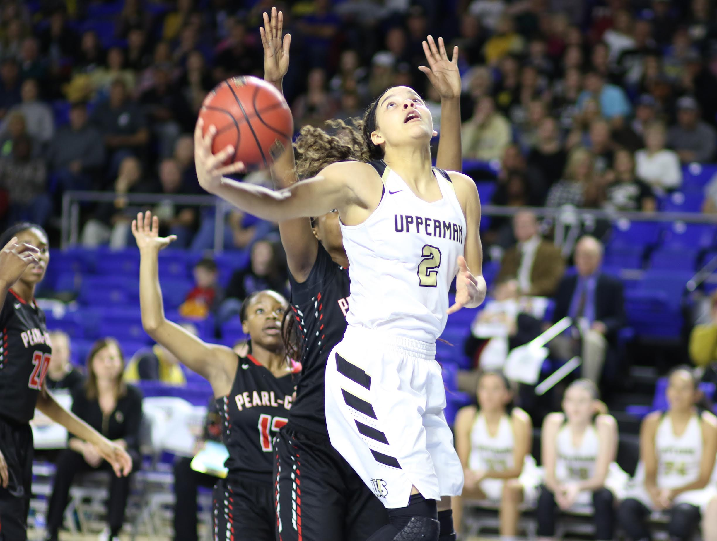 Upperman's Akira Levy led the Lady Bears to the Class AA state championship. (Photo credit to Scott Wilson, Cookeville Herald-Citizen)