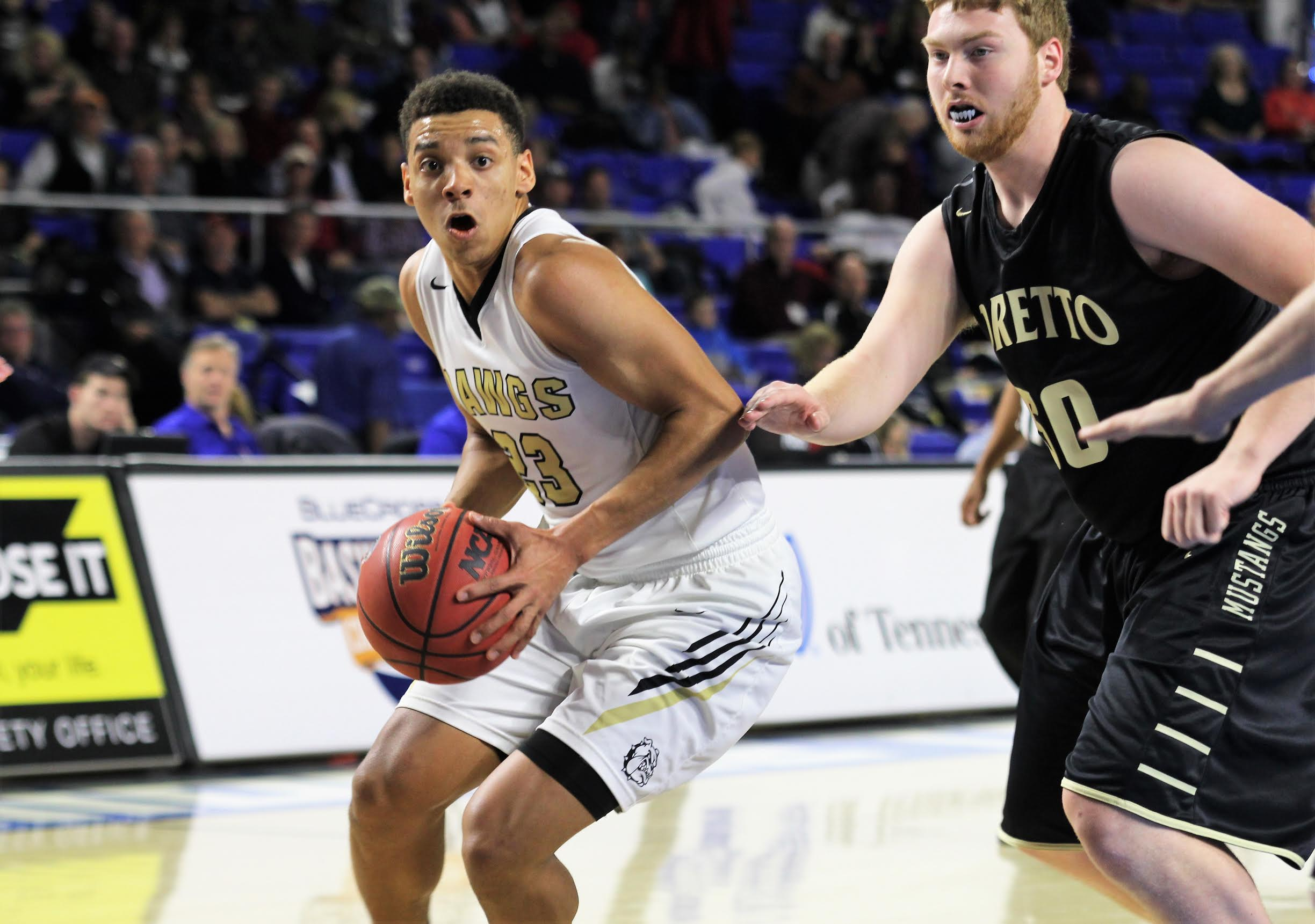 Clay County's Tyreke Key earned All-State honors in Class A. (photo courtesy of Scott Wilson, Cookeville Herald-Citizen)