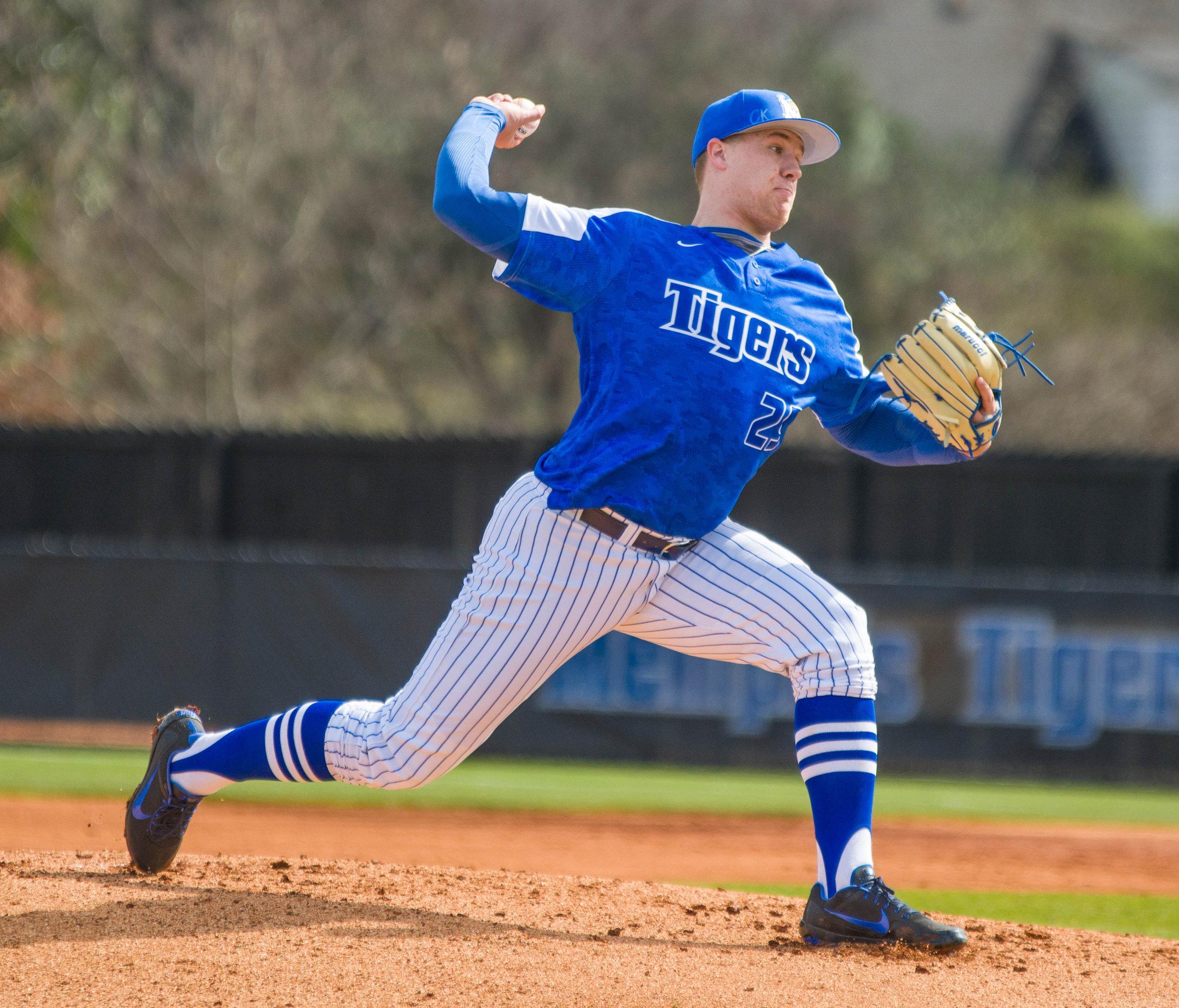 University of Memphis pitcher Jonathan Bowlan