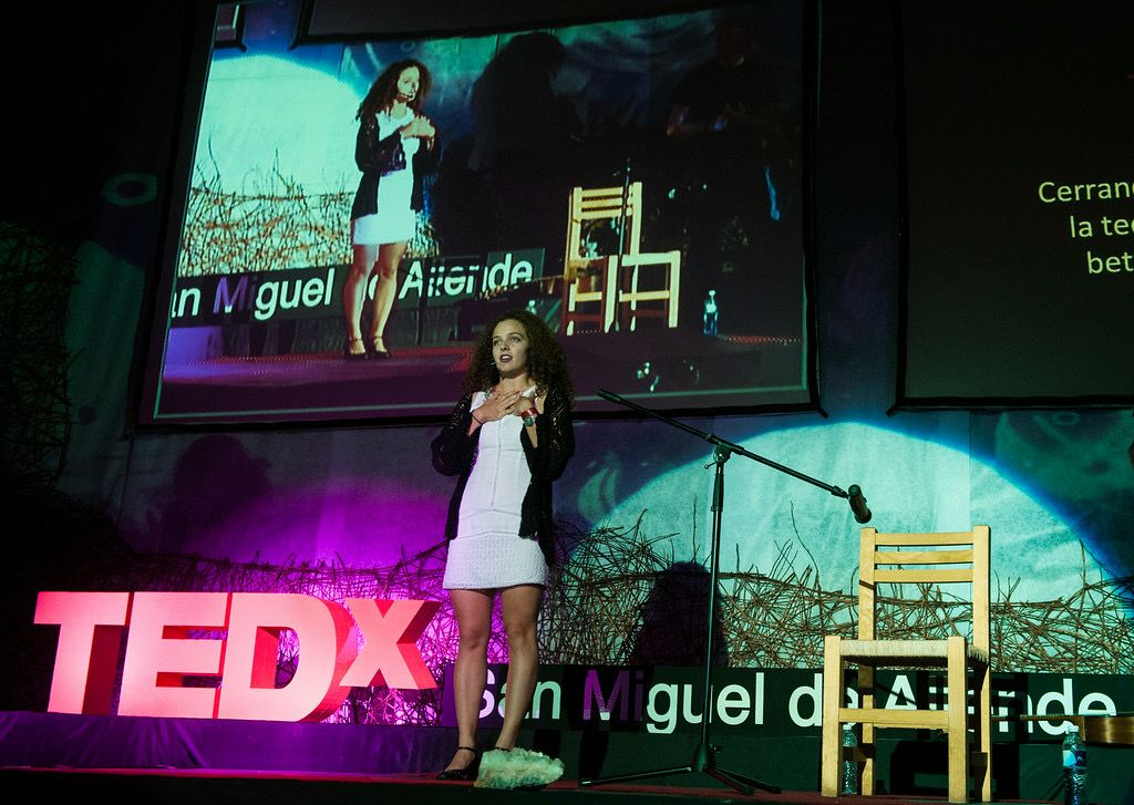 Giving a TEDx talk on the relationship between music, tech and creativity in San Miguel de Allende, Mexico.