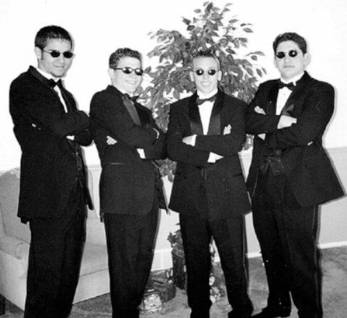 The 4 of us before picking up our dates for our Junior Prom in 1998.