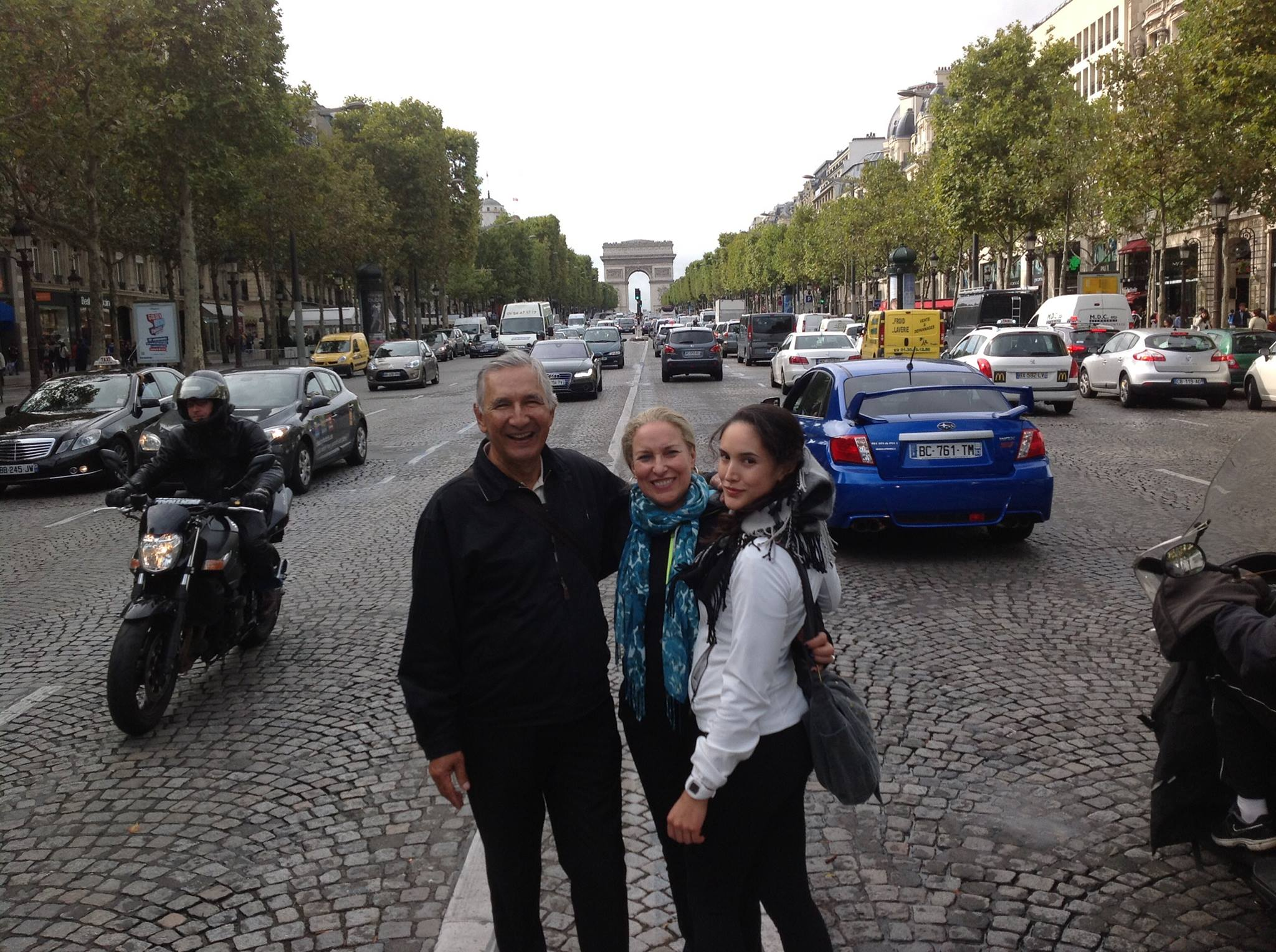Touring europe with my parents! walking around paris was a good enough workout!