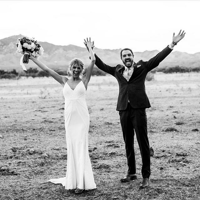 """Hello"" to the 2019 Fall Wedding Season!!! . . . . . . Love this great shot by @liliephotography #weddingmood #newlywedlife #blackandwhitewedding"
