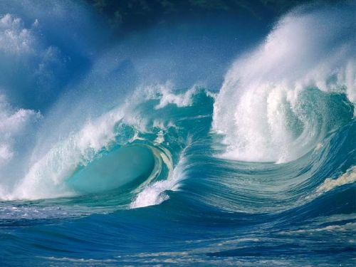 Waves are amazing examples of rolling spirals