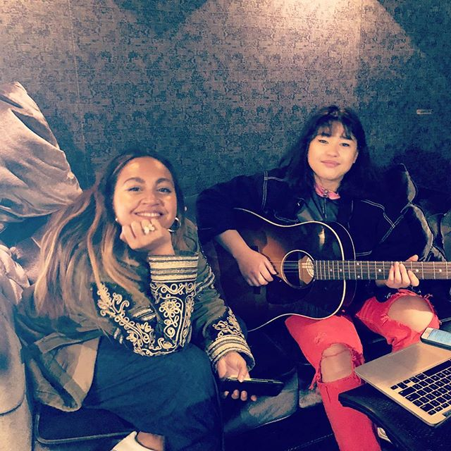 Amazing session with these 2 legends today. . . . #jessicamauboy #maribelleanes  #thewritersblockstudio #universalmusicpublishing  #sonymusicaustralia