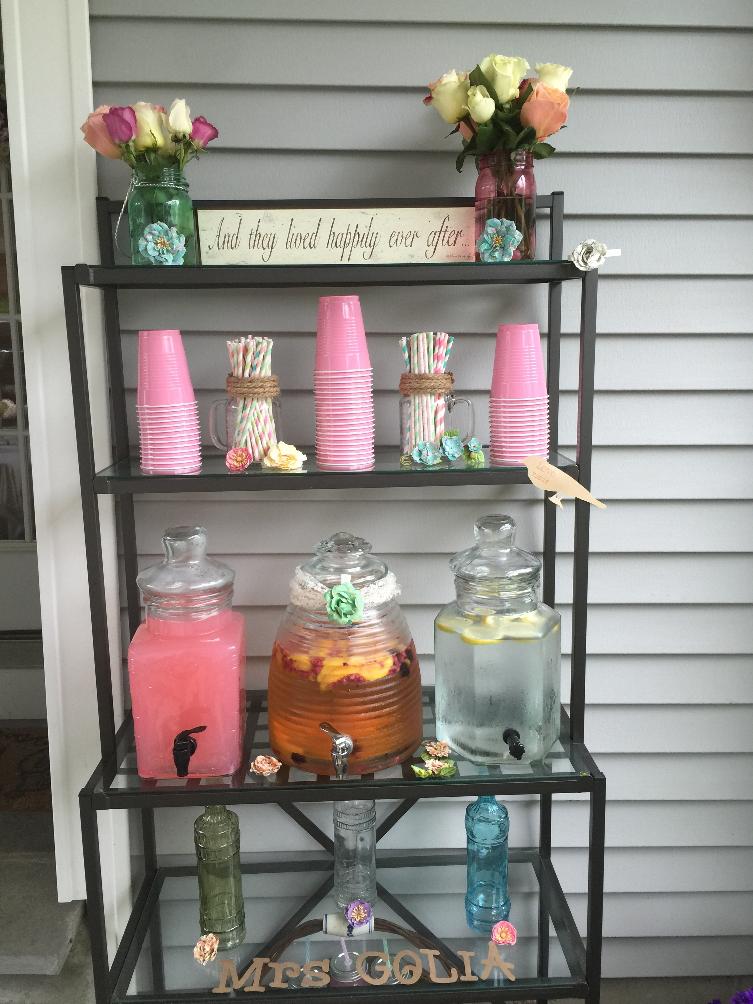 Drink station for my best friends bridal shower that I hosted.