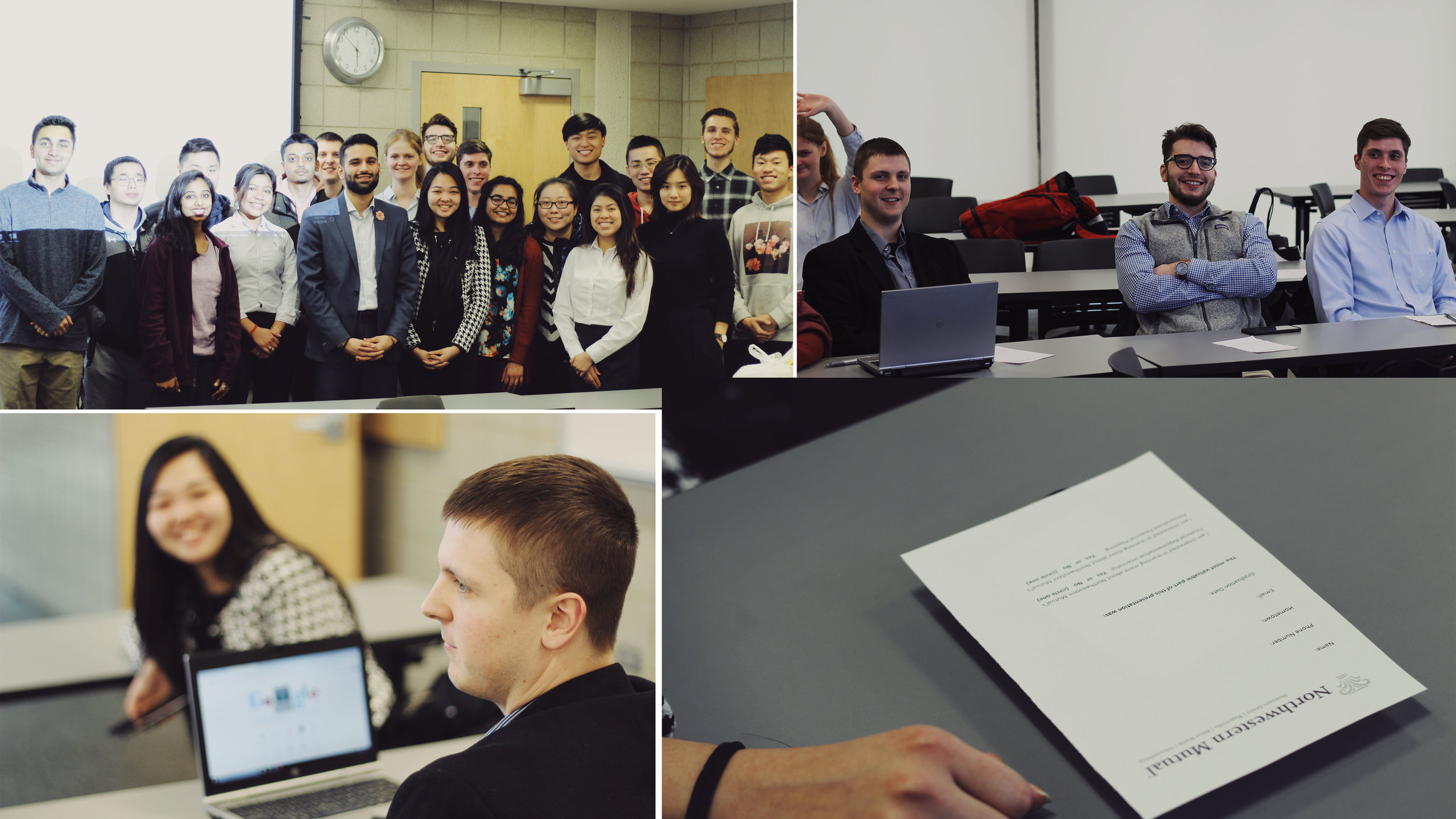 WEEKLY WORKSHOPS - AKPsi hosts weekly workshops to help Brothers improve their professional skills and become better business leaders. Northwestern Mutual came in to assist Brothers in their own financial planning!