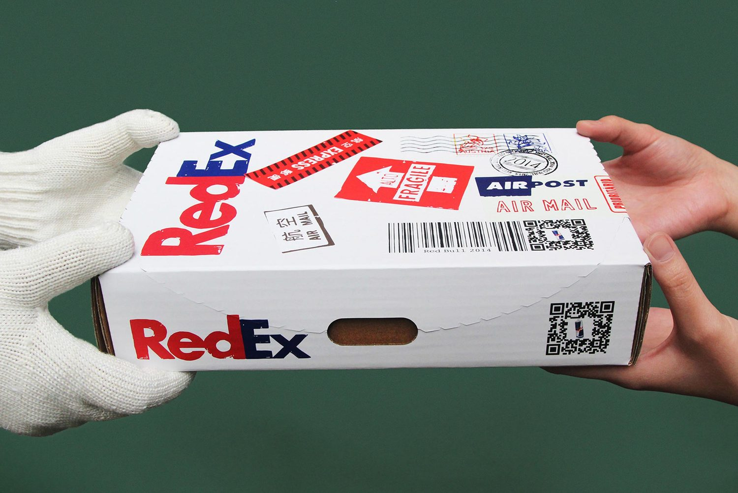 For our launch pack, we used the insight that a FedEx package meant high valued goods sent from abroad.
