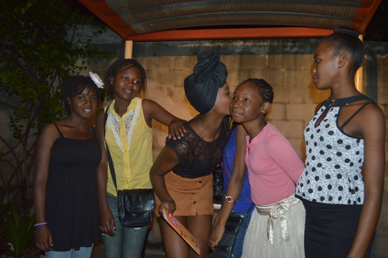 Girls at YWCA Haiti celebrate their safe space.
