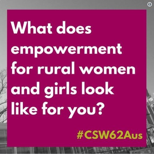 Check out the Storify recap from the #CSW62Aus Twitter Chat last week - @equalityrightsalliance and the National Rural Women's Coalition asked what matters to rural women and girls! Head to: bit.ly/StorifyCSW62