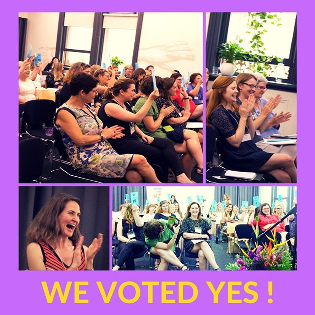 On Saturday 25 November, all YWCA Associations in Australia voted to adopt the constitution for the new national YWCA organisation. Celebrations were jubilant as the decision to adopt the new constitution marks an historical point in the National Merger Project. This is an exciting time for the YWCA movement in Australia as we unite our resources and expertise to become strong, unified, national feminist organisation of women, young women and girls, working to achieve gender equality #ywca