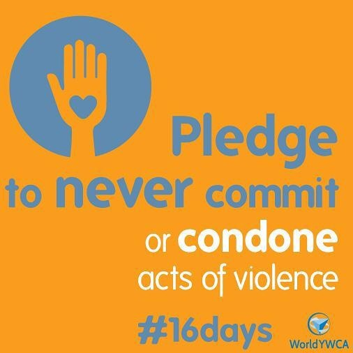 Today is International Human Rights Day and the last day of the #16Days of Activism to End Gender Based Violence. Today, @worldywca asks us to pledge to never commit or condone violence. This can include challenging violence supportive attitudes or norms in our communities, challenging gender stereotypes that reinforce gender inequality, and supporting victims of GBV. ⠀ #16Days #EndGBV #WeAllHaveAPartToPlay