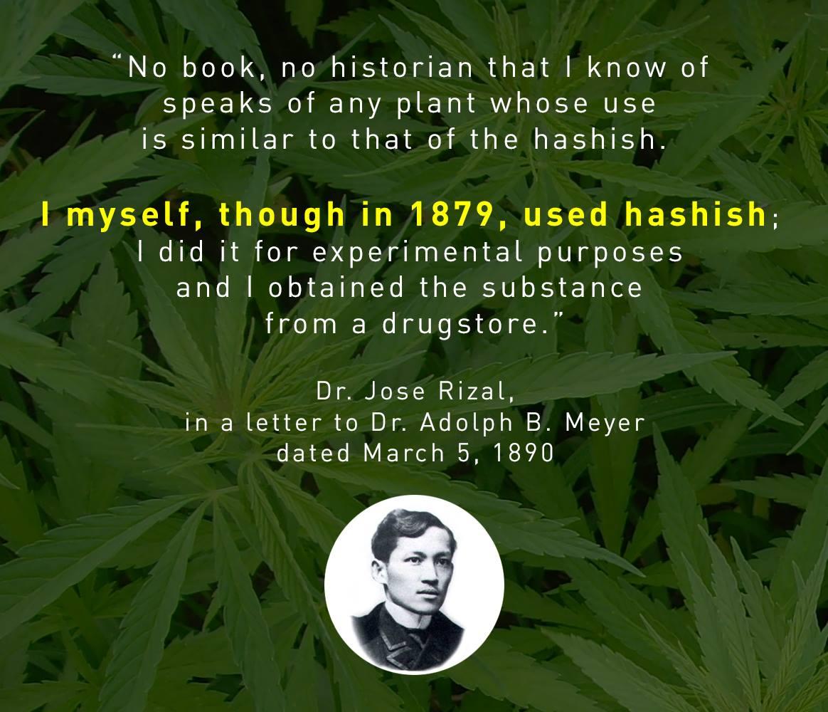 Dr. Jose Rizal on hashish