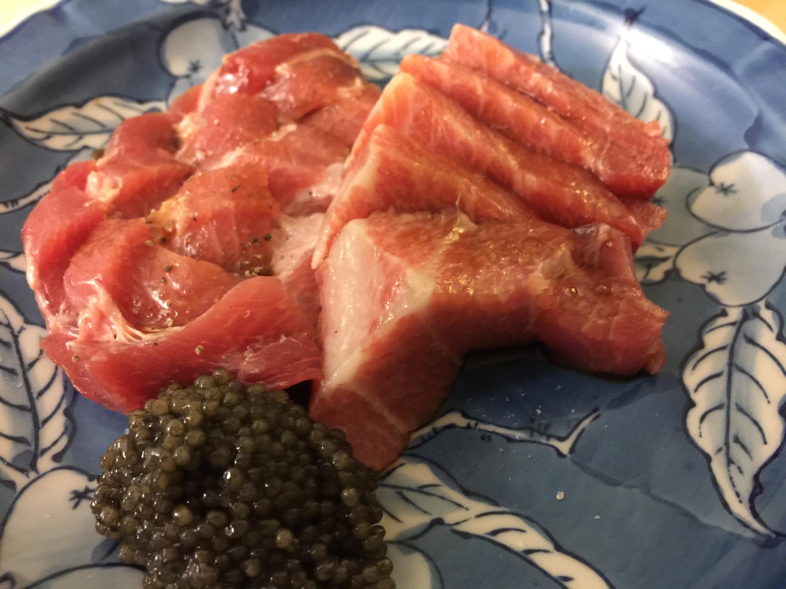 Toro with caviar