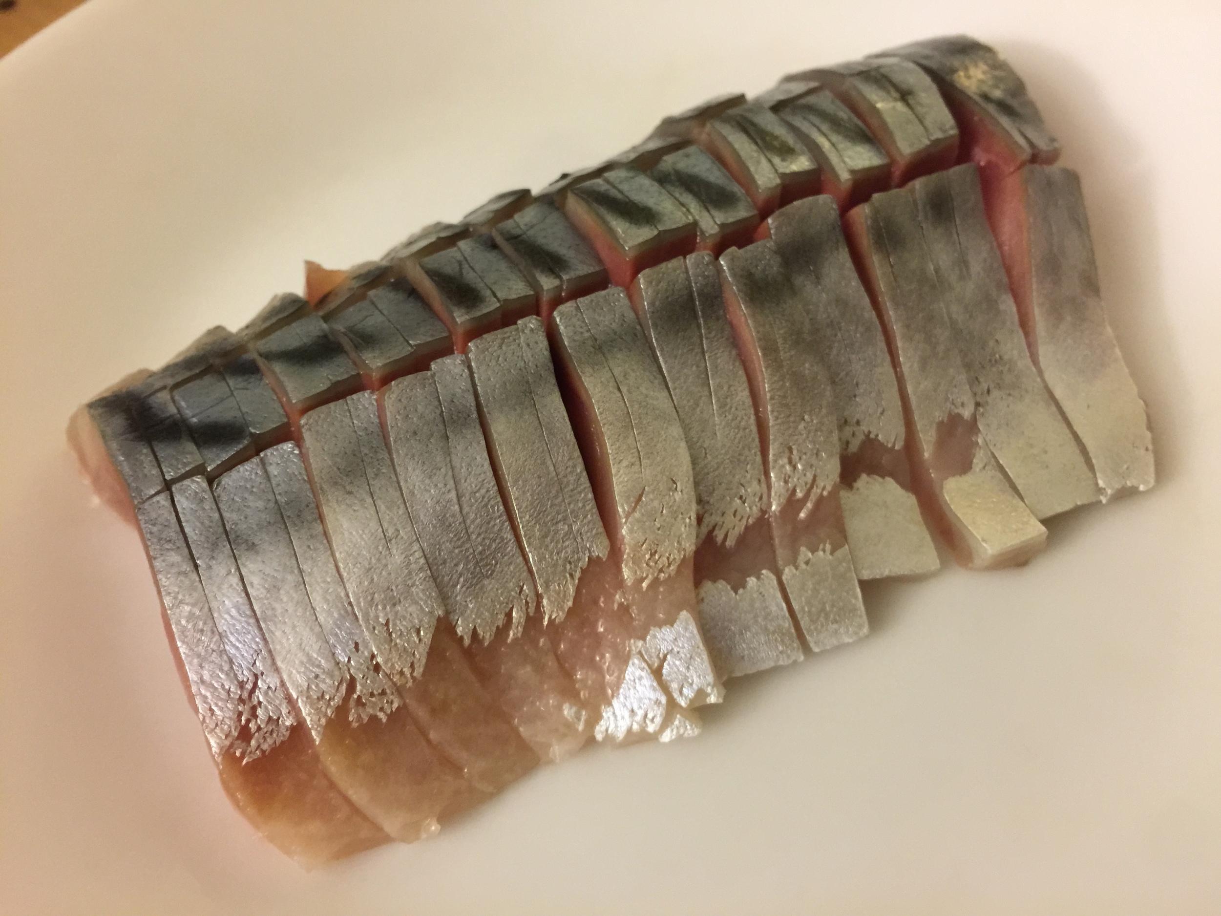 Mackerel with light vinegared