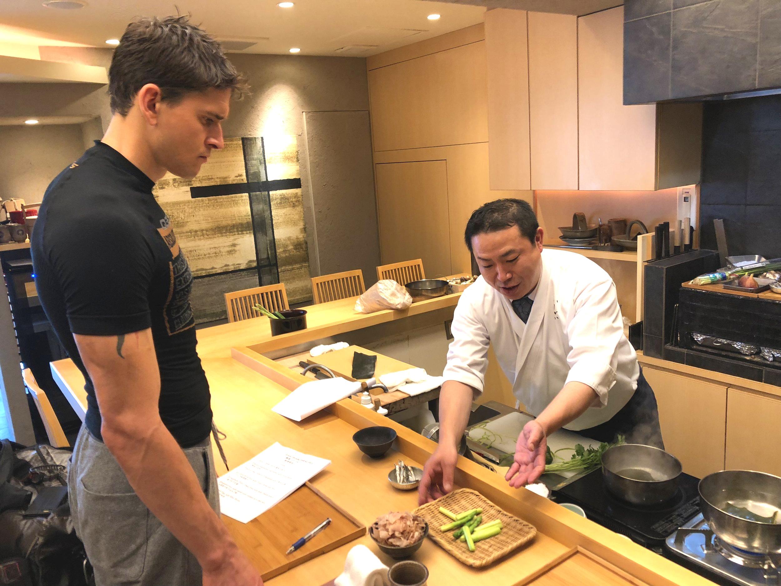 Private cooking class at Ishizuka Ginza