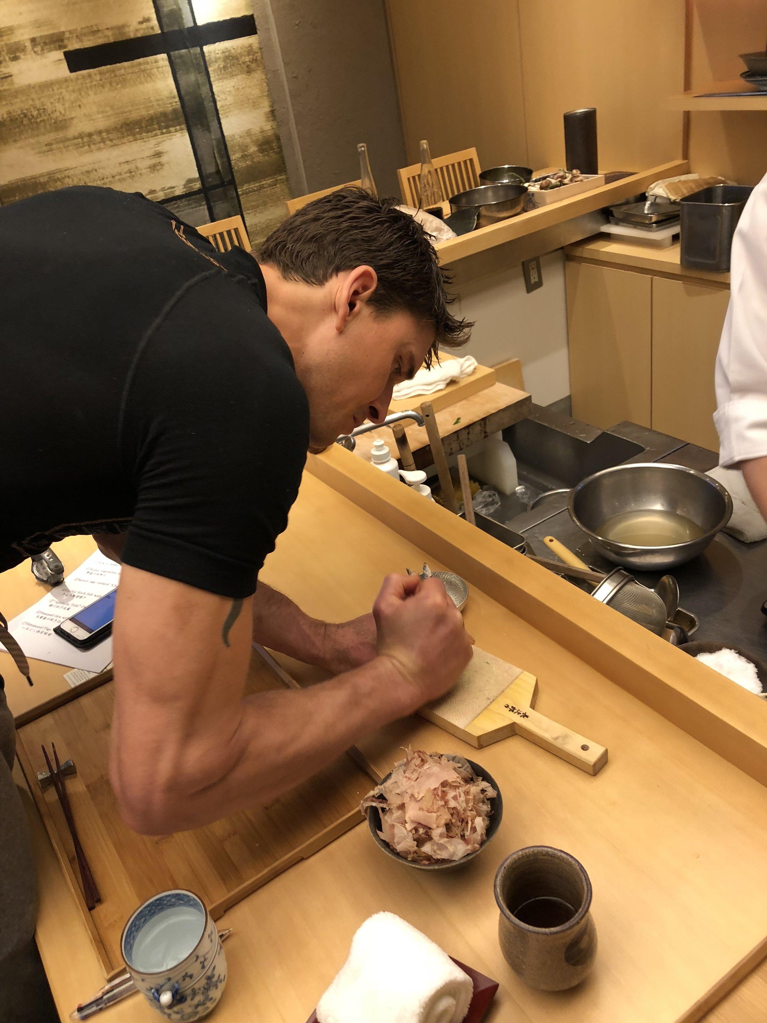 Ben experiences real wasabi root