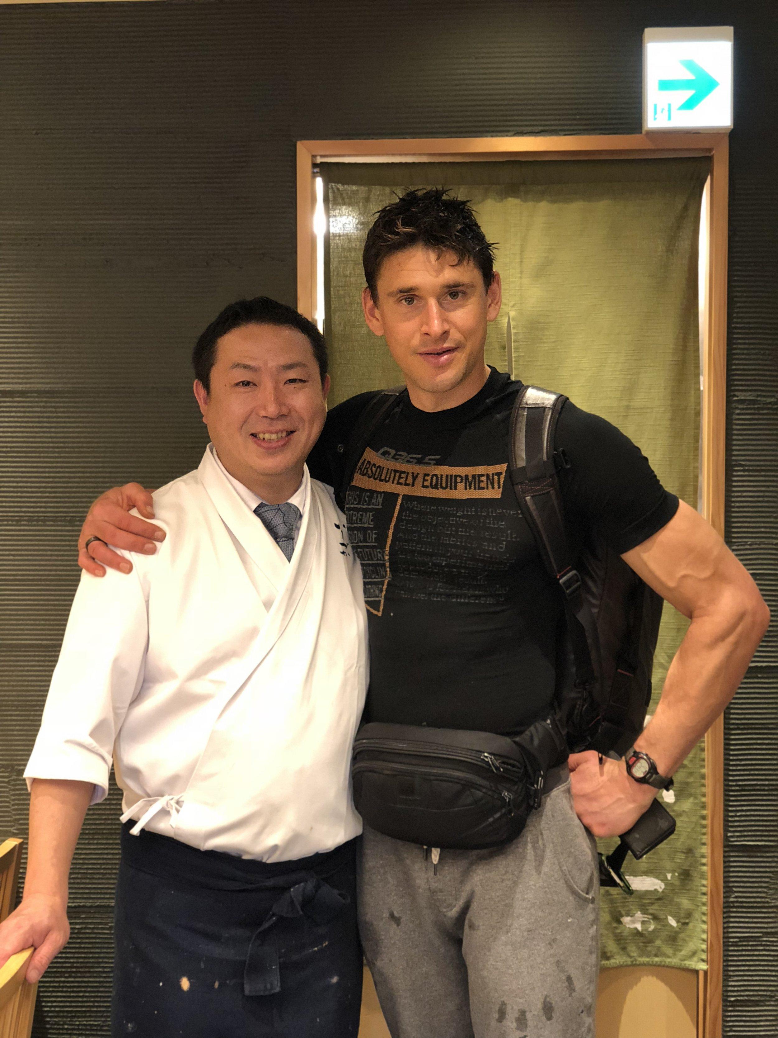 Chef Ishizuka and Ben