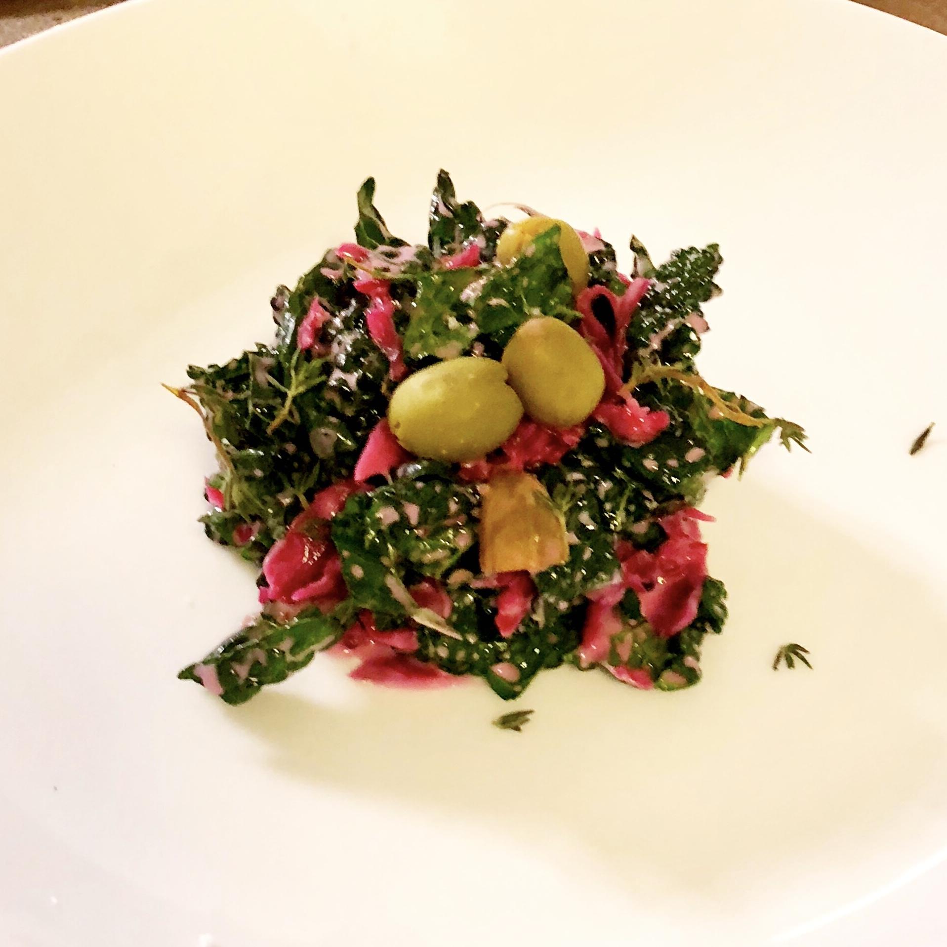 Purple Sauerkraut and Kale Salad