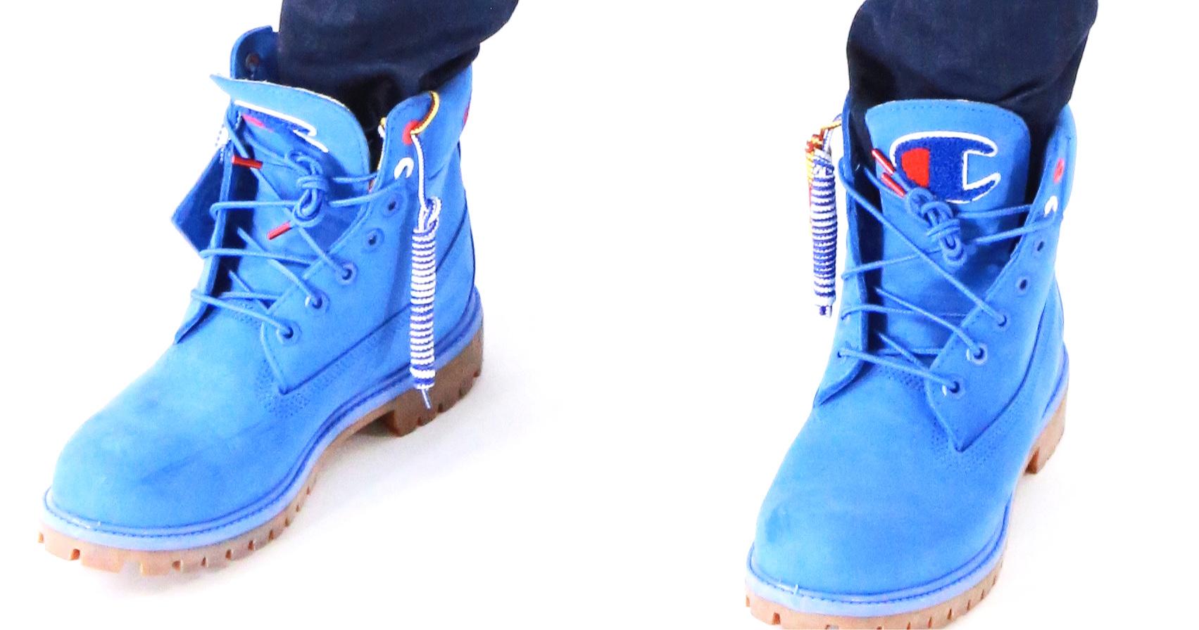 Champion & Timberland collaboration boots