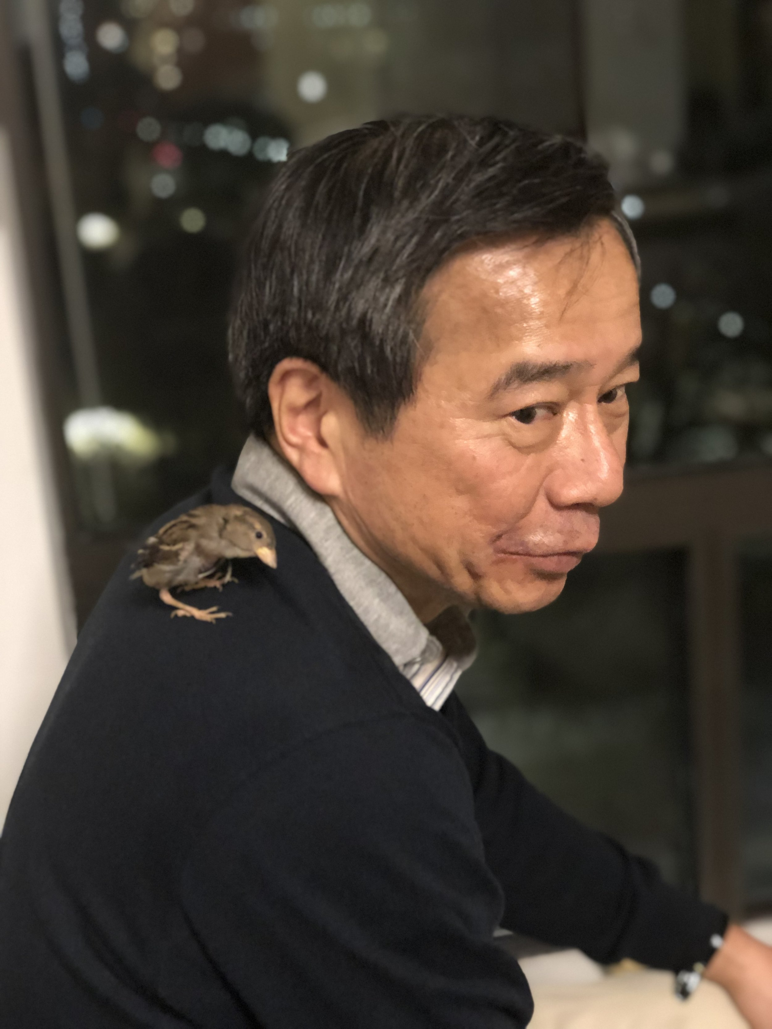 Dad with Rio chan