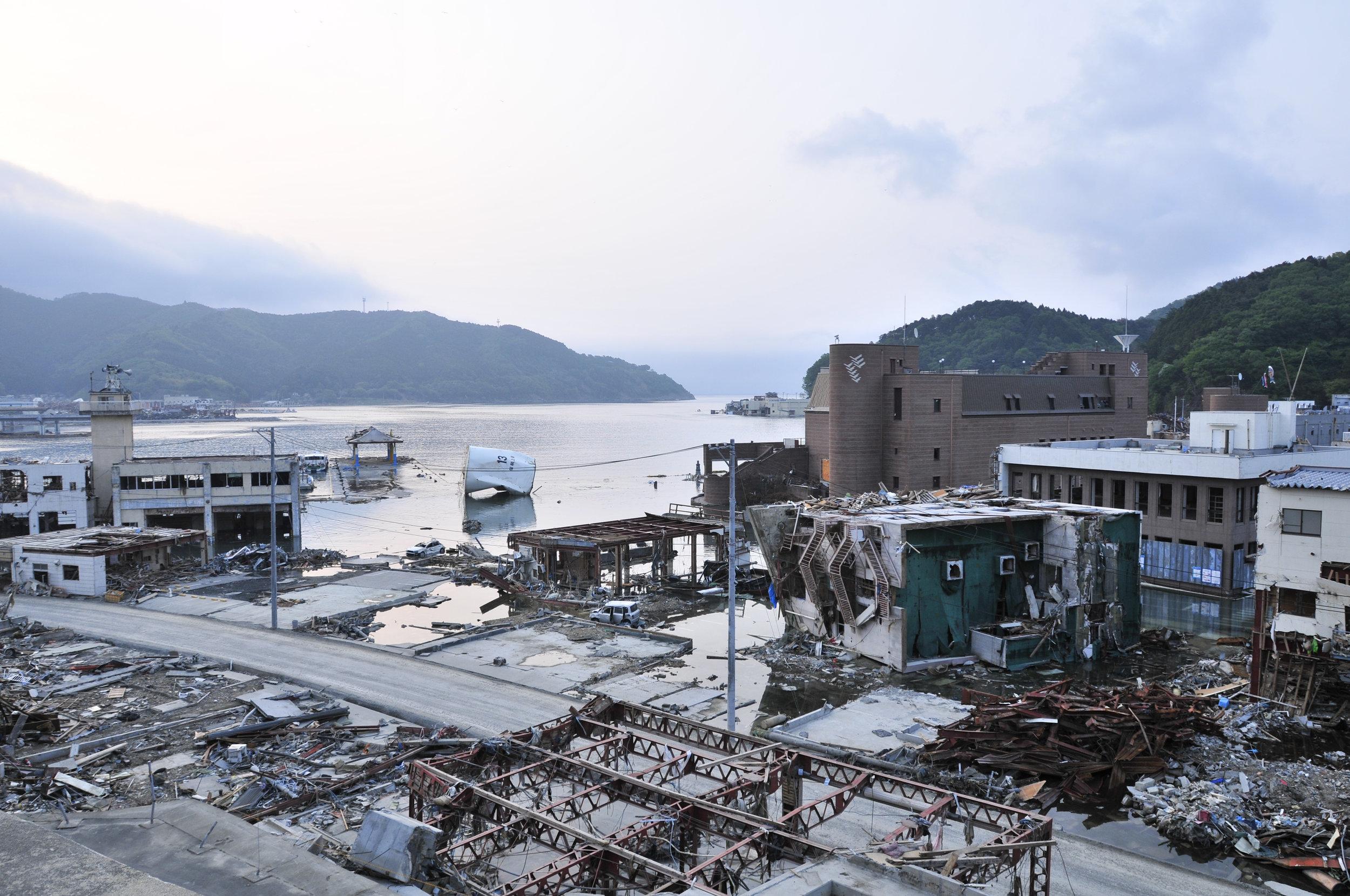 Destruction in Sendai, March 11 2011.