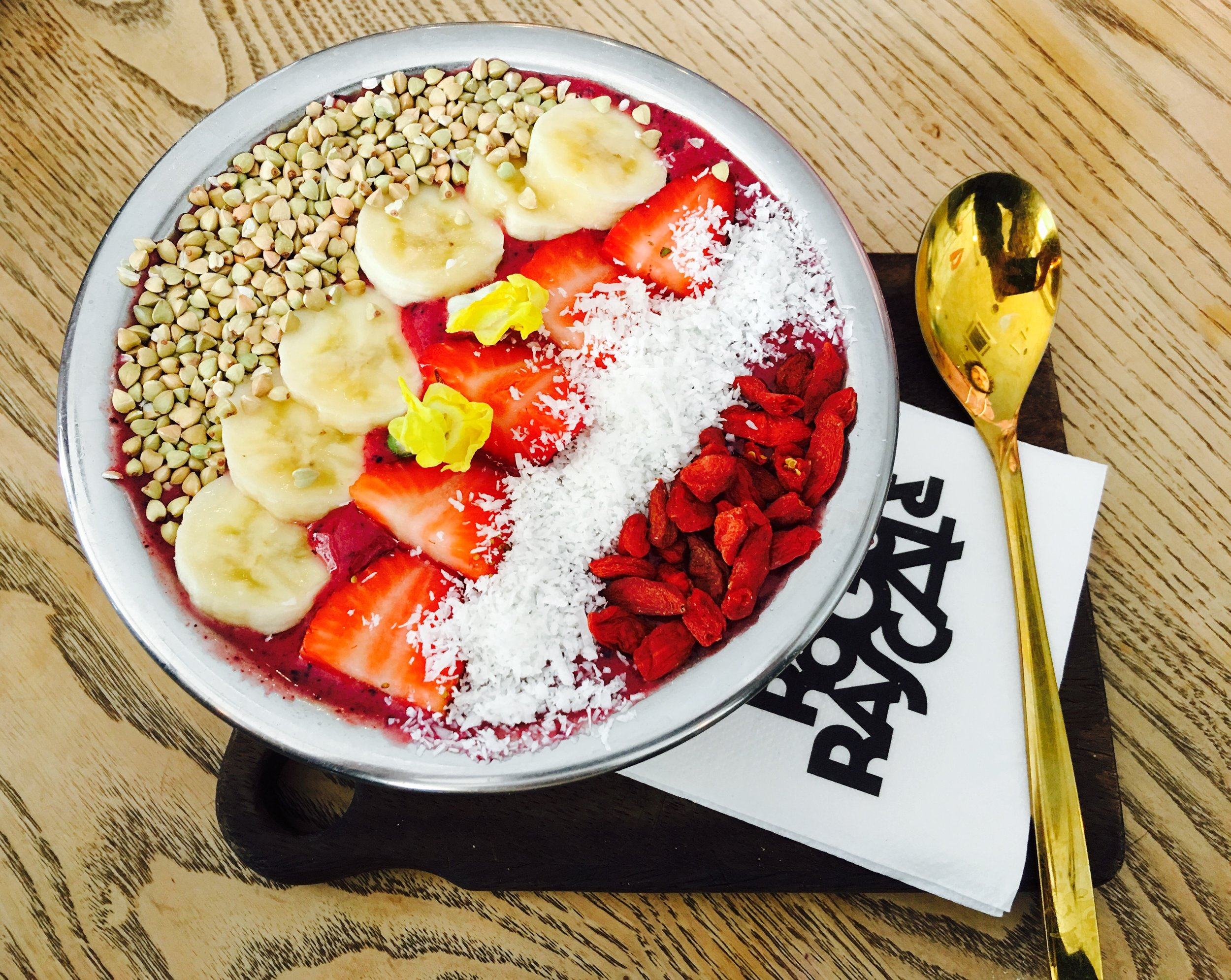 The Acai Bowl at the Rogue and Rascal, Pt Lincoln.