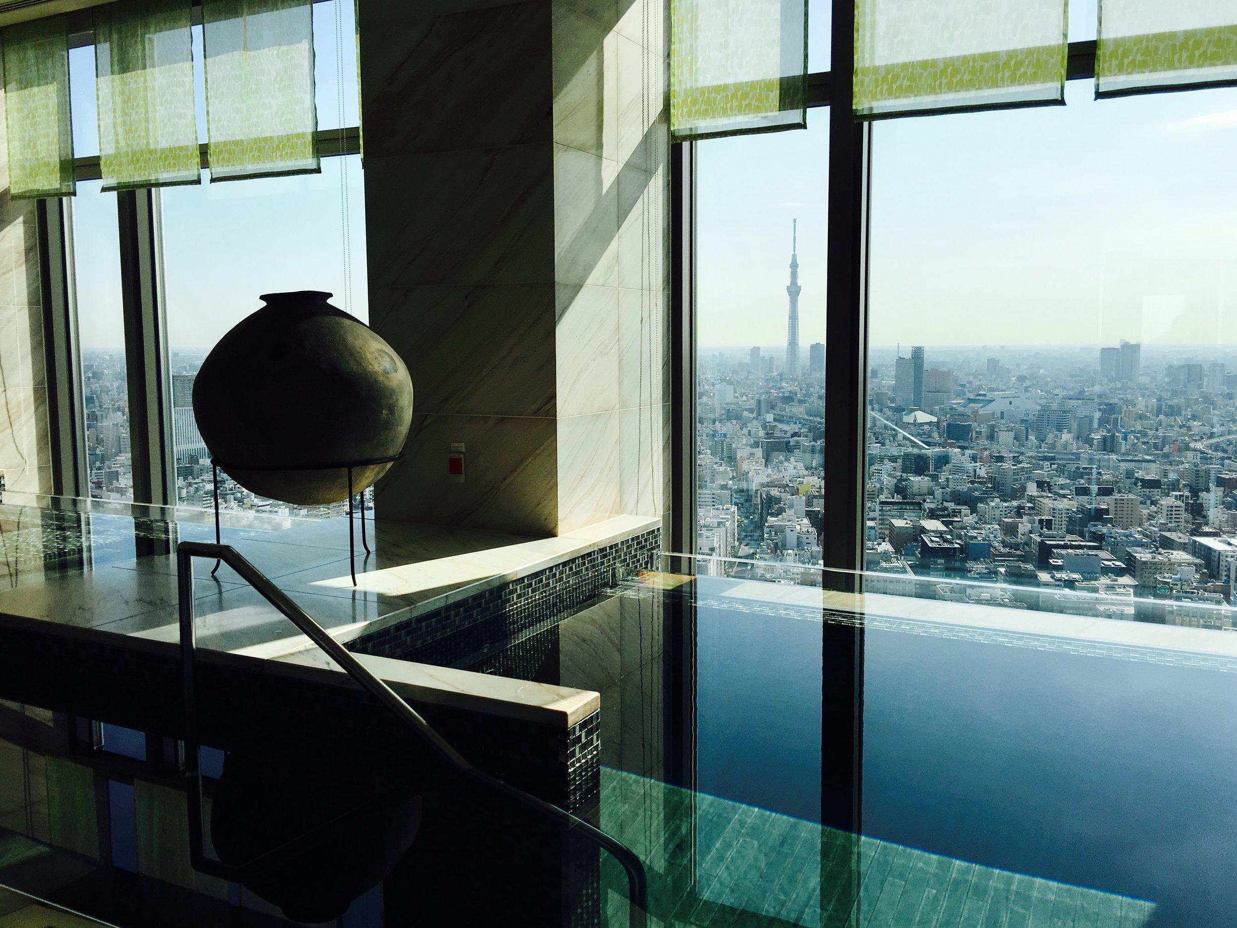 Mandarin Oriental Hotel Spa, Tokyo. Credit: Angie Davis.