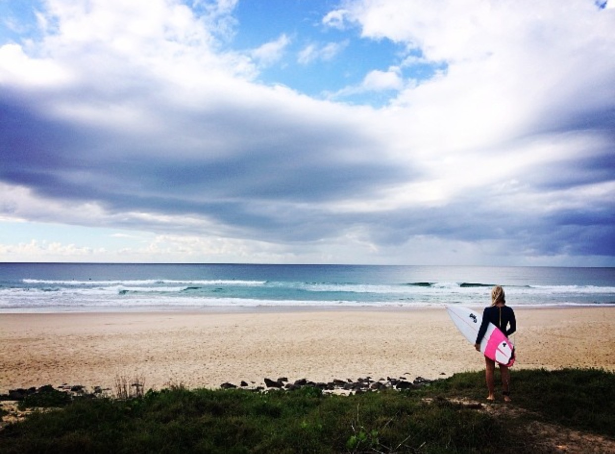 When Celia isn't shooting or being a mum, she is out at her local surf break thriving in nature.