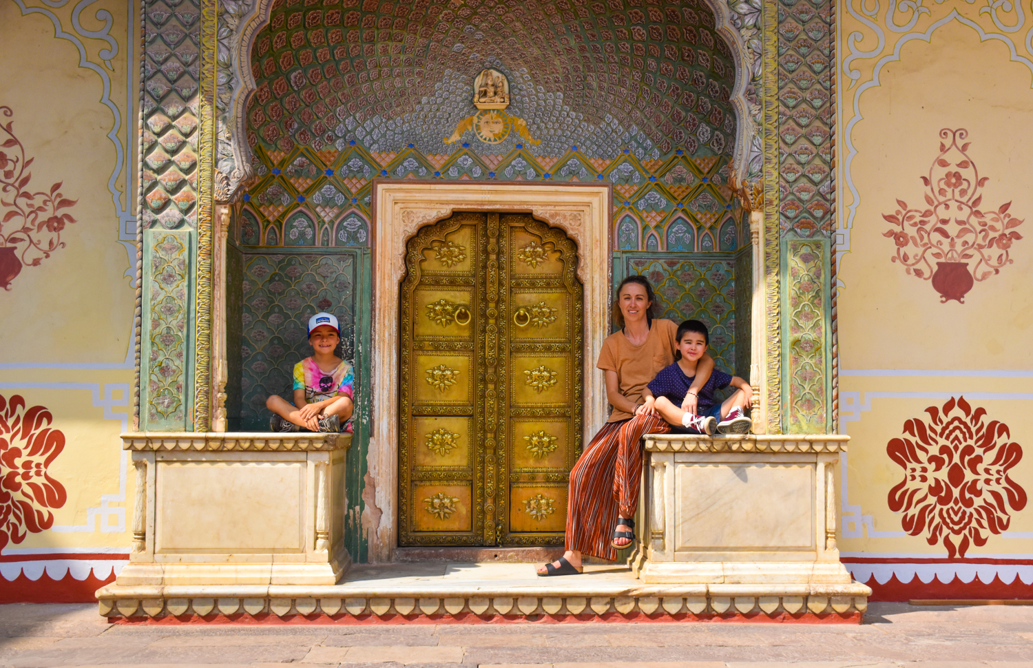 Family at the Jaipur City Palace India