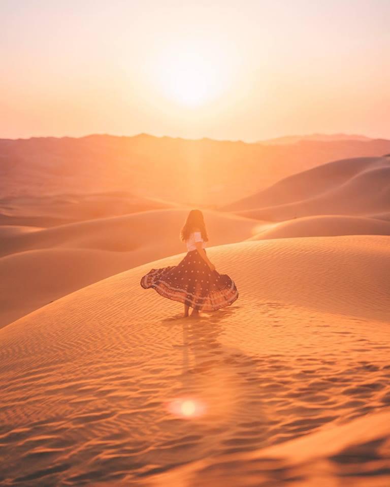 Raya in the Arabian Desert. Via @rayawashere / Credit: @funforlouis
