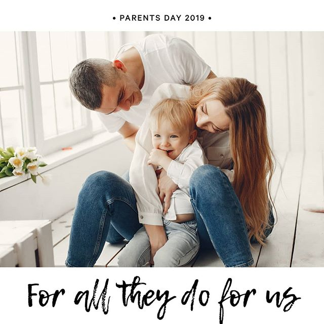 PARENTS DAY 2019!  A day to celebrate everything they do for us.  Acknowledge your loved ones on this special day, your parents are always there for you, supporting you and caring for you.You wouldn't be here without them so show them just how much you care with a small gesture of your appreciation ❤  #parentsday2019 #celebrate #forallyoudo