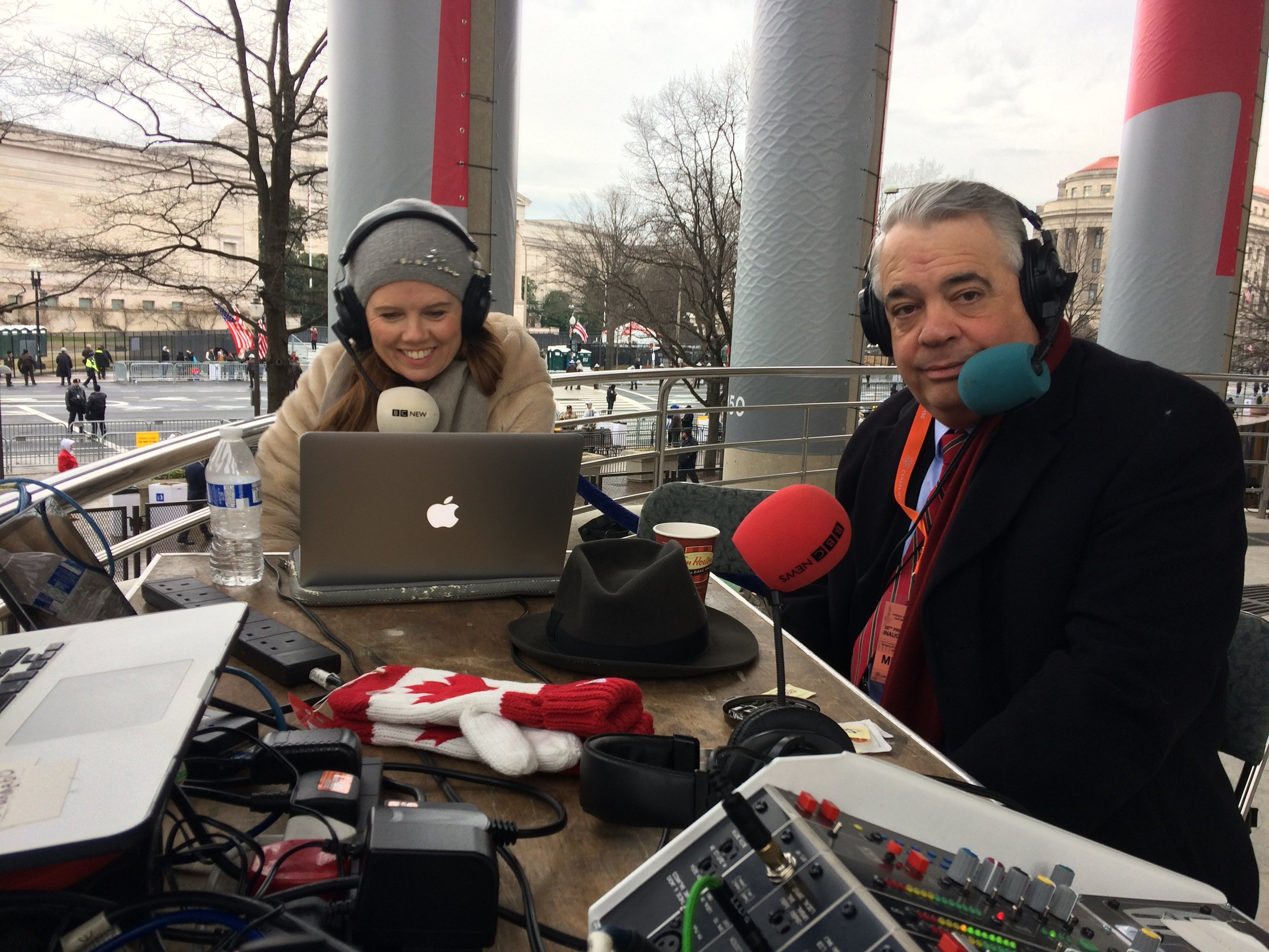 A freezing and fascinating 12 hours anchoring the inauguration of US President Donald J Trump for the BBC World Service.