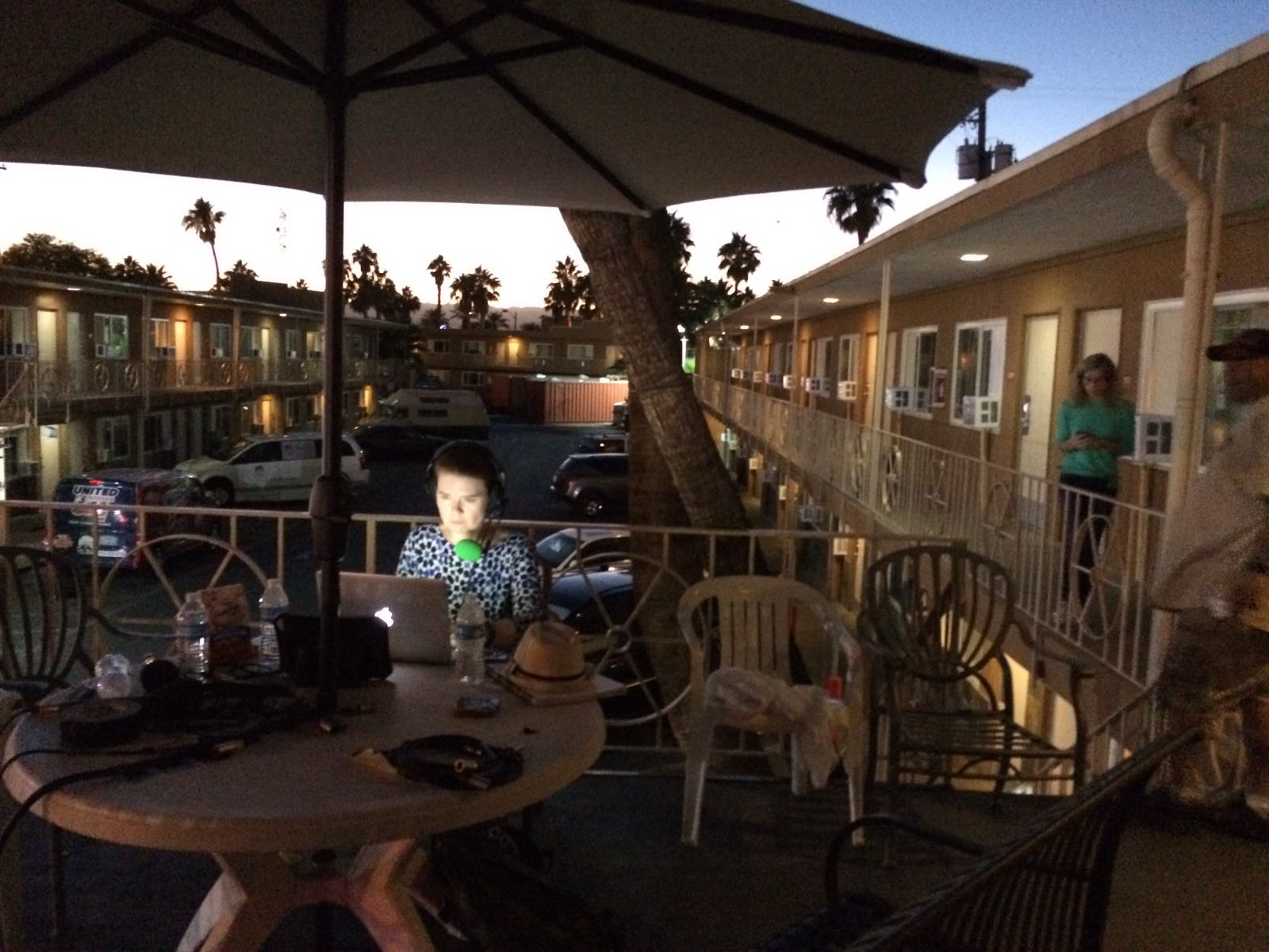 As the sun set on Las Vegas Boulevard, I prepared for a show with homeless veterans living in this motel.