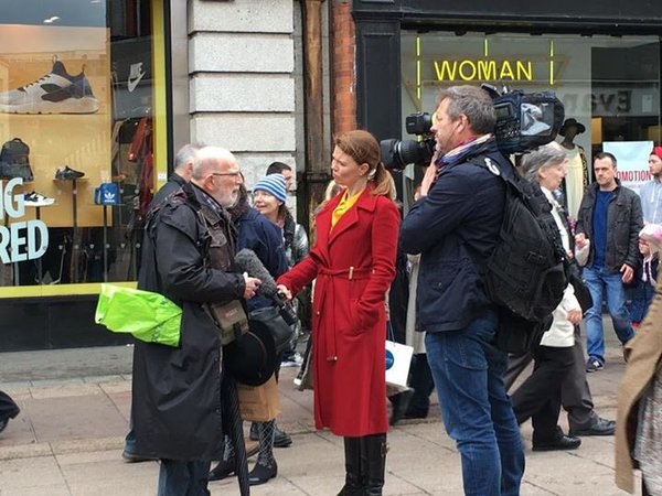 On the streets of Dublin, hearing the opinions of Dubliners on the eve of Easter 1916 commemorations.