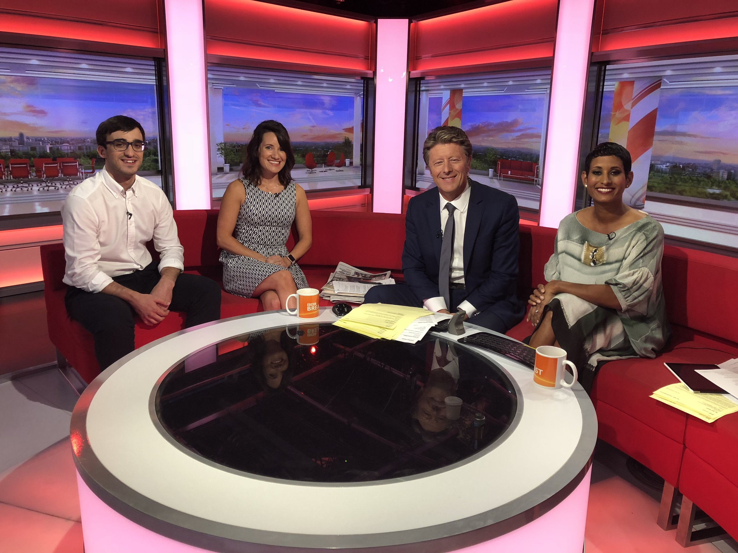 Talking about mental health and exercise on the BBC Breakfast Show