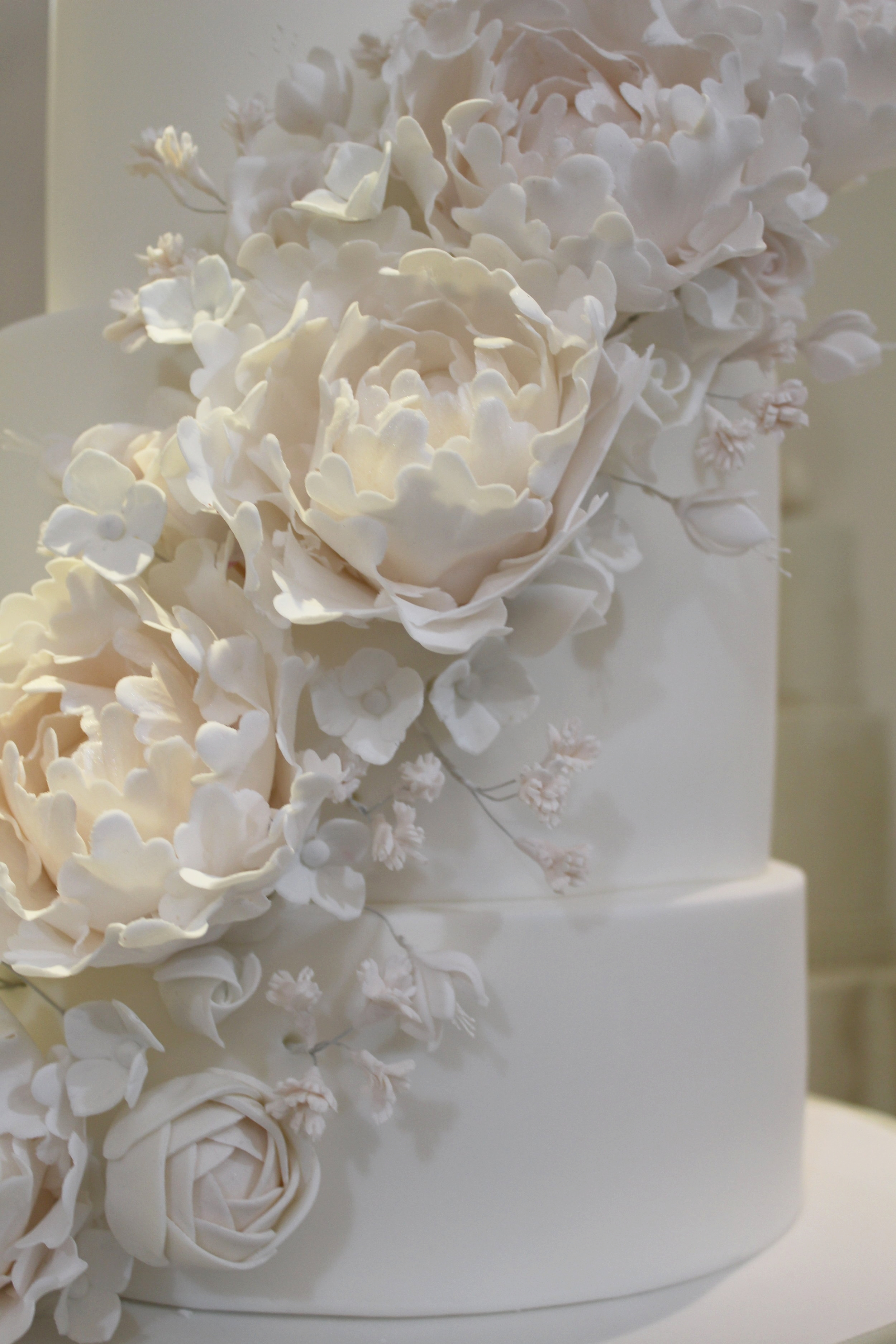 Sugar Flower Detail - peonies, roses, gyp, hydrangeas and freesias