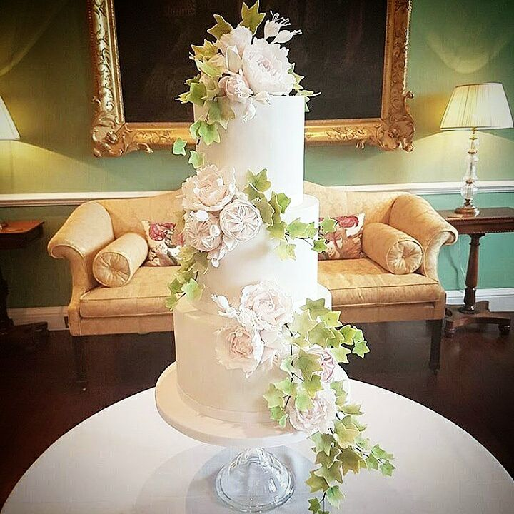 three tier wedding cake - rosewood wedding cakes glasgow scotland