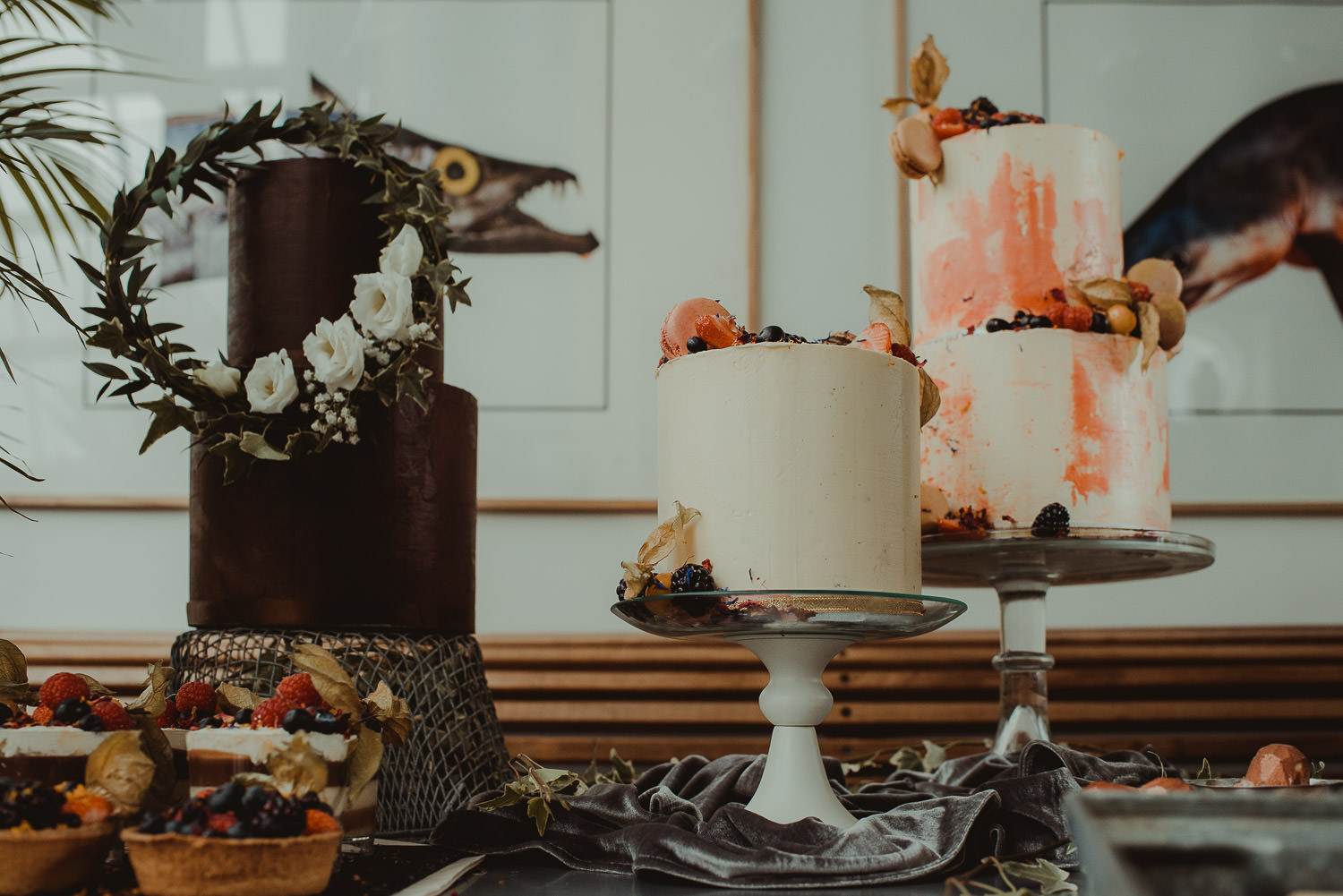 BAAD - Chocolate Ganache and Buttercream Wedding Cakes - with Martin Venherm Photography and the Little White Cow decor