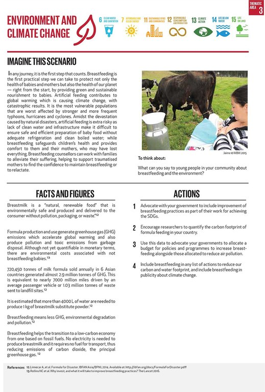 Page from  World Breastfeeding Week leaflet .