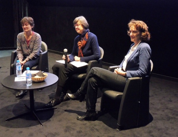From left to right: Carine Vassy, Simone Bateman and Joëlle Vailly discussingpre and neonatal tests in France.